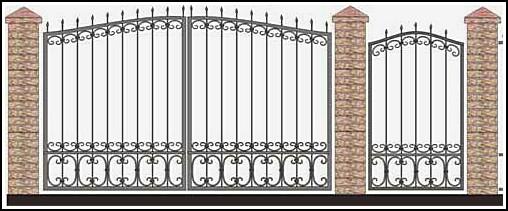 Ворота кованые ВКВ №51