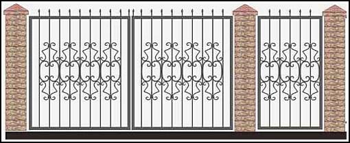 Ворота кованые ВКВ №52