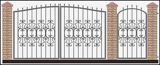 Ворота кованые ВКВ №53