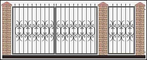 Ворота кованые ВКВ №54