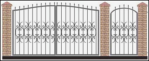 Ворота кованые ВКВ №55