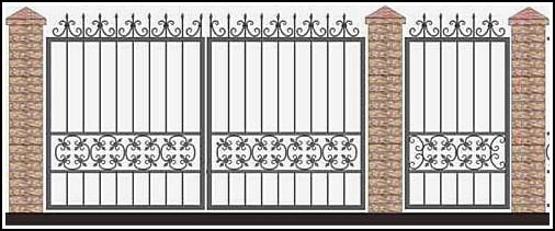 Ворота кованые ВКВ №56