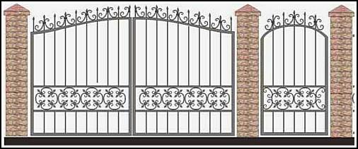 Ворота кованые ВКВ №57