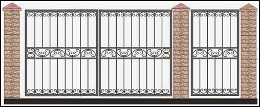 Ворота кованые ВКВ №58