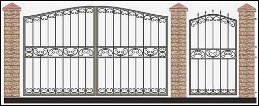Ворота кованые ВКВ №59