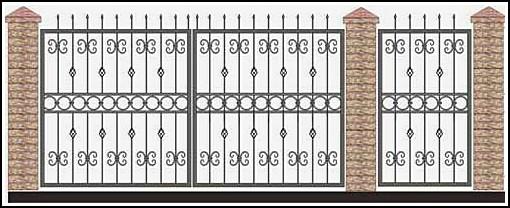 Ворота кованые ВКВ №60