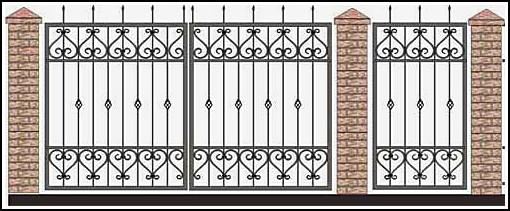 Ворота кованые ВКВ №61