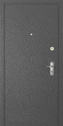 Одностворчатая металлическая двухлистовая утепленная дверь c шумоизоляцией 860 на 2100 мм.