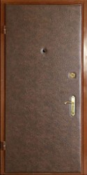 Одностворчатая входная однолистовая утепленная дверь c шумоизоляцией 860 на 2000 мм.