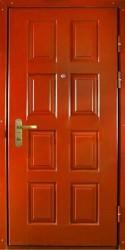 Одностворчатая  однолистовая утепленная дверь c шумоизоляцией 900 на 2100 мм.