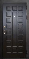 Одностворчатая входная двухлистовая утепленная дверь c шумоизоляцией 900 на 2100 мм.
